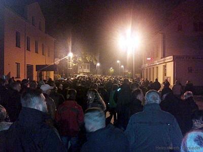 Demonstration gegen Erstaufnahme in Einsiedel am 21.10.15