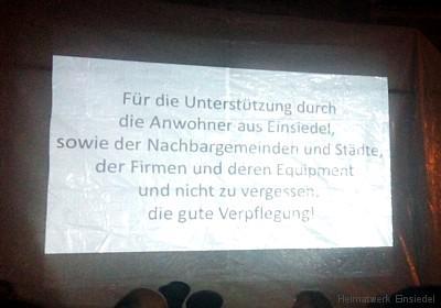 Beameranzeige Demo Einsiedel 21.10.15