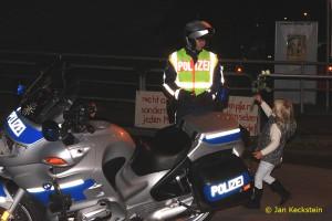 Rosen für die Polizei