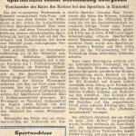 Eröffnung Sportlerheim Zeitungsausschnitt