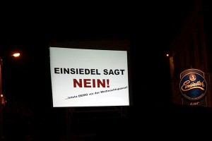 Einsiedel sagt NEIN!