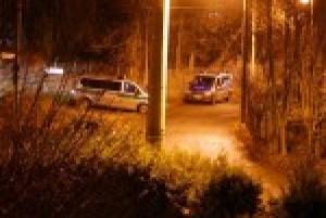 Polizeisperre Dittersdorfer Weg Ecke Schollstraße