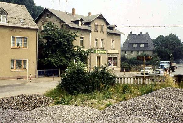 Textilgeschäft in Einsiedel 1978
