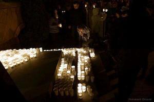 Kerzen auf der Demo am 3.2.2016