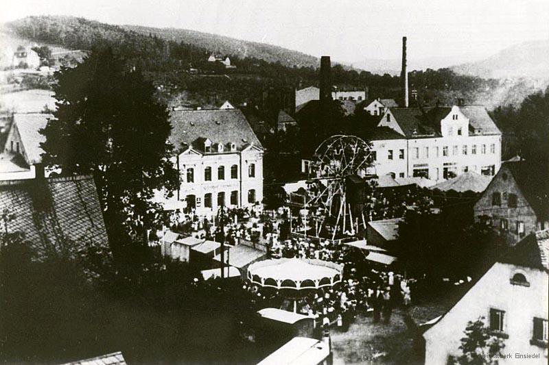 Die Einsiedler Kirmes in den 1920er Jahren.
