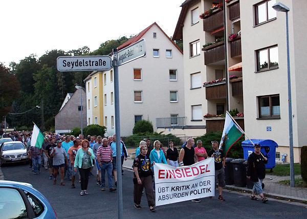Demo in Einsiedel auf der Seydelstraße 31.08.16