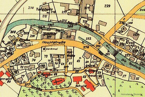 Kartenausschnitt Einsiedel 1920er Jahre