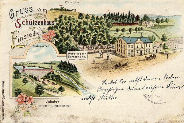 Postkarte Schützenhaus Einsiedel 1903