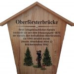 Hinweisschild Oberförsterbrücke Einsiedel