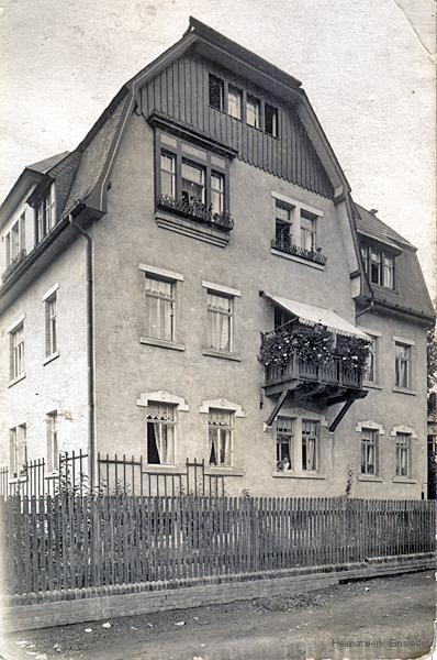 Berbisdorfer Straße 3 in Einsiedel etwa um 1920.