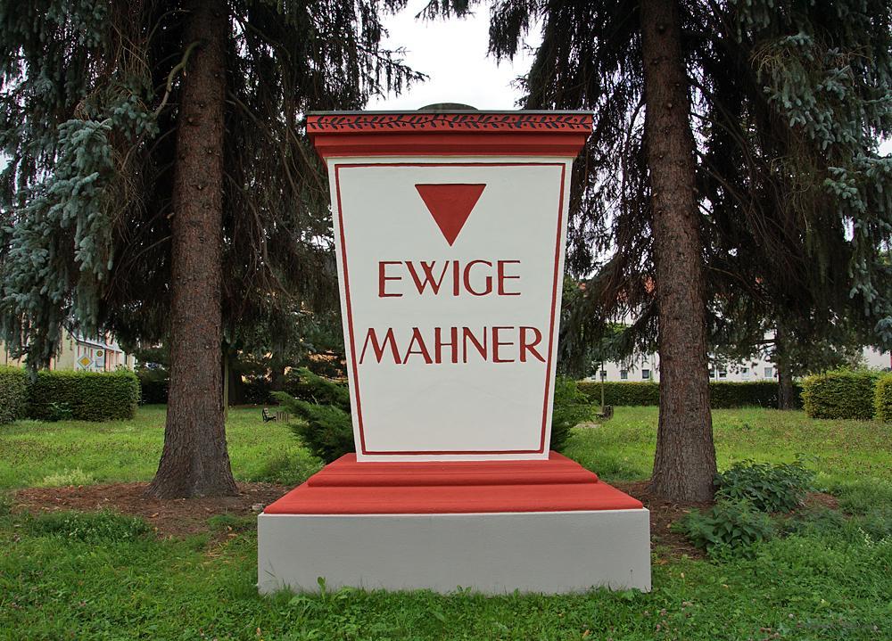 Ewige Mahner Einsiedel im September 2017