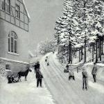 Winterrodelbahn Einsiedel nahe Waldesrauschen