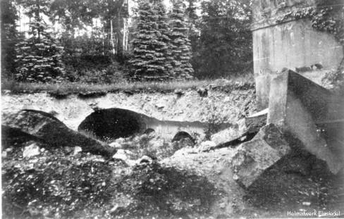 Ruinen Wasserwerk Einsiedel 1945