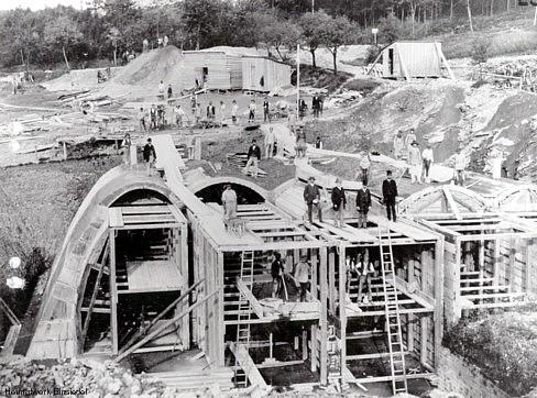Bau des Stollensystems der Talsperren der Stadt Chemnitz