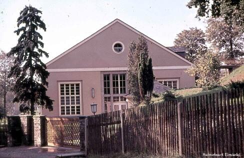Wiederaufgebaute Filterhalle in den 1960er Jahren