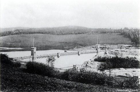 Talsperre Einsiedel eines der ersten Fotos 1894