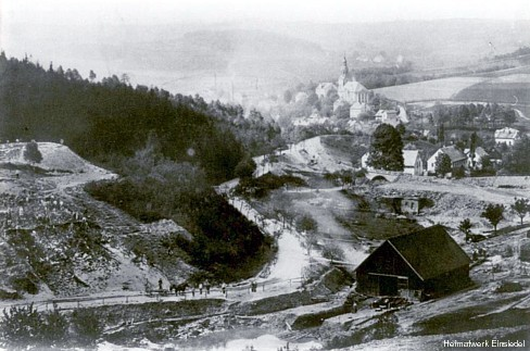 Vor dem Bau der Einsiedler Talsperre