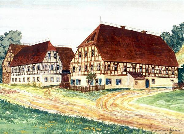 Aquarell Lehngericht Einsiedel von Walter Viertel