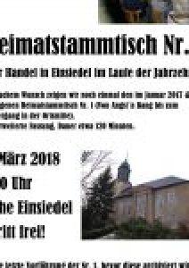 Heimatstammtisch Einsiedel Nr. 1 25. März 2018 Kirche Einsiedel