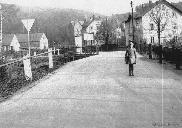 Oberförsterbrücke Einsiedel um 1930.
