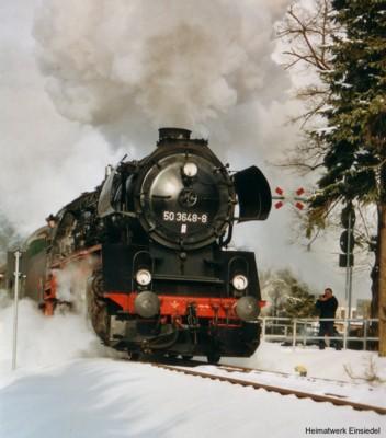 Dampflok am 20.02.2005 in Einsiedel