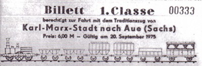 Sonderzugbillett 1. Classe