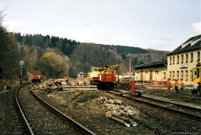 Abriss Bahnsteig Bhf Einsiedel