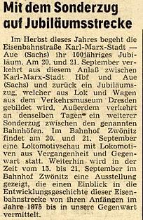 Artikel Freie Presse 05.08.1975