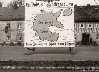 Werbung für den Österreichanschluss 1938
