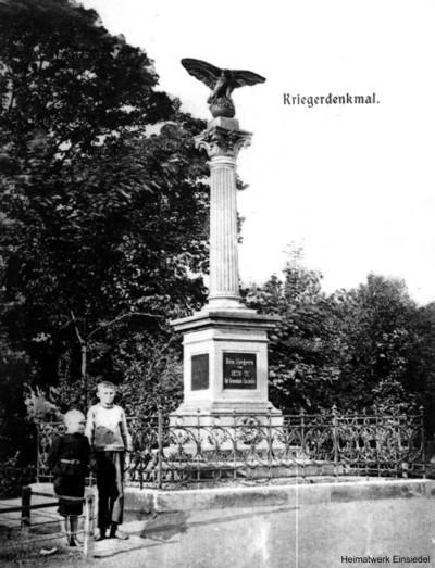 Postkarte Kriegerdenkmal auf dem Plan
