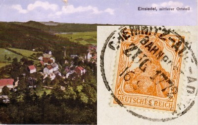 Postkarte Bahnpost