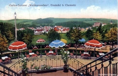 Lithographie Terrasse Waldesrauschen