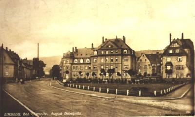 Postkarte August-Bebel-Platz