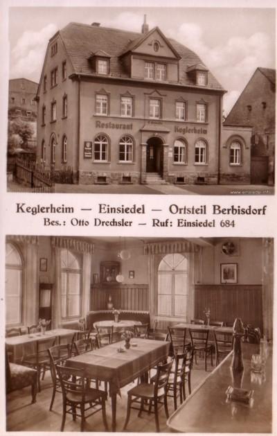 Postkarte 2er Ansicht Keglerheim Berbisdorf