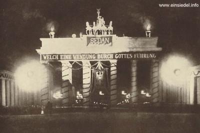 Sedanparole am Brandenburger Tor