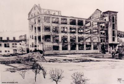 Ruine Wehner & Rudolph Einsiedel, Zeichnung Walter Viertel 1946