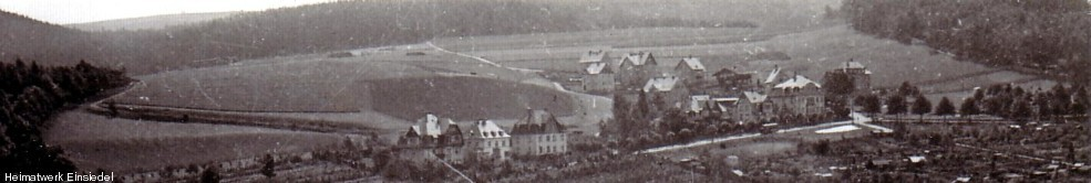 Unbebaute Dittersdorfer Straße in Einsiedel um 1928