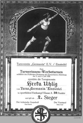 Urkunde Turnerinnen Werbeturnen