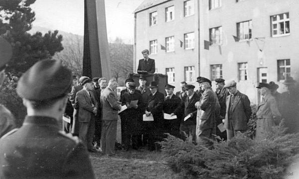 Eröffnungsred mit Männerchor Berbisdorf