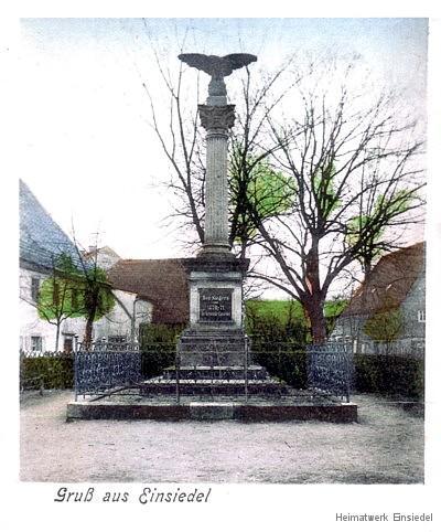Kriegerdenkmal Einsiedel Am Plan