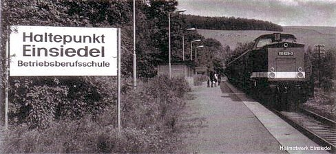 Haltepunkt Berufschule 8. Mai Einsiedel um 1980