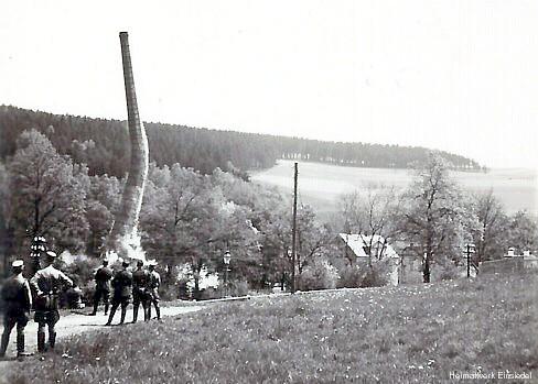 Essensprengung Papierfabrik Einsiedel 1938