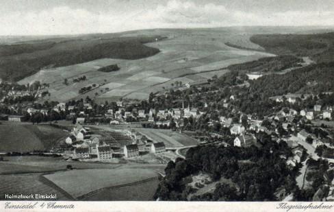 Luftbild Siedlung und Mittelort Einsiedel um 1933