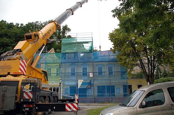 Neubau Dachstuhl auf dem ehemaligen Reinicke-Haus