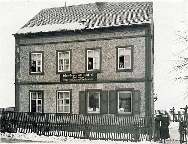 Schneiderei Schroll in Berbisdorf im Winter