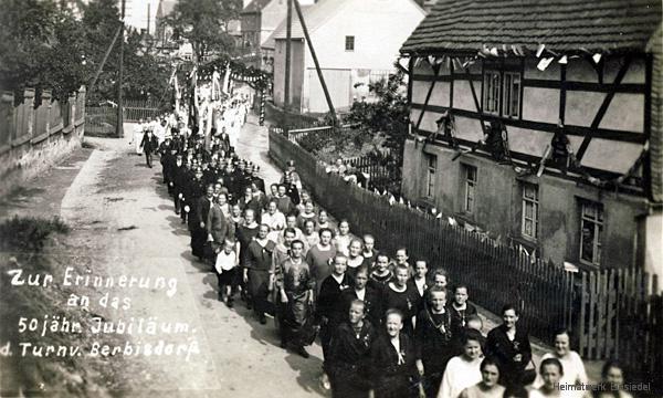 Umzug anlässlich 50 Jahre Turnverein Berbisdorf