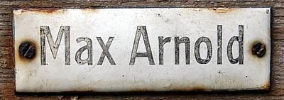 Emailleschild Max Arnold