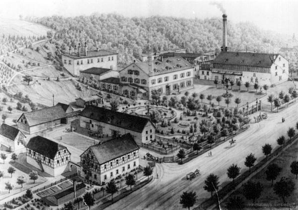 Erste Standort der Brauerei Schwalbe in der Hauptstraße 128