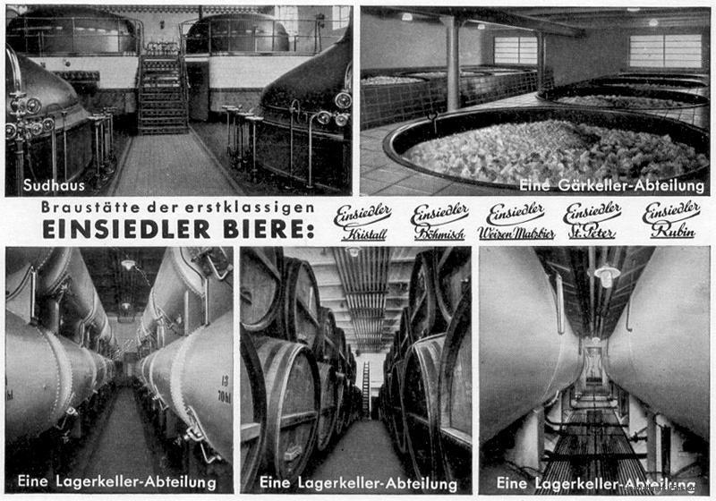 Innenansicht Einsiedler Brauhaus Winterling & Co. um 1941