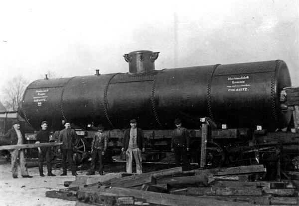 Dampfkessel der Maschinenfabrik Germania Chemnitz1908